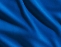 Blue satin fabric Stock Photos