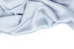 Blue satin isolated Royalty Free Stock Images