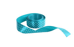 Blue satin ribbon Stock Photos