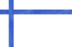 Blue satin ribbon isolated on white. Background Royalty Free Stock Photos