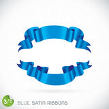Blue Satin Ribbons Illustration Royalty Free Stock Photos