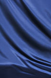 Blue satin textile Royalty Free Stock Images