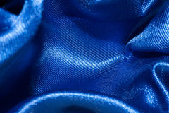 Blue satin textile background Royalty Free Stock Photo