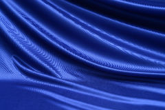 Blue satin textile Stock Photos