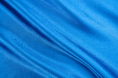Blue satin texture. Royalty Free Stock Images