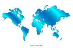 Blue Satin World Map Royalty Free Stock Images