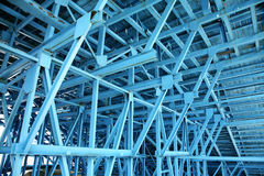 Blue scaffold Royalty Free Stock Photography