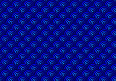 Blue Scales Seamless Pattern Royalty Free Stock Photo