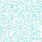 Blue scales seamless pattern Royalty Free Stock Photography