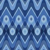Blue scalloped seamless pattern Stock Photography
