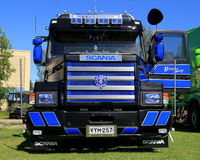 Blue Scania Vabis 143H Show Truck Stock Photos