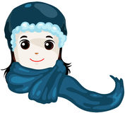 Blue scarf Royalty Free Stock Photo