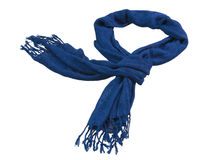 Blue scarf Royalty Free Stock Photos