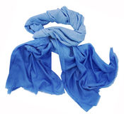 Blue scarf Stock Image