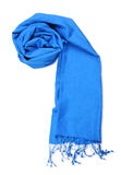 Blue scarf. Isolated on white background with clipping path Royalty Free Stock Image