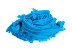 Blue scarf. Beautifull blue scarf isolated on white background Stock Image