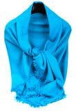 Blue scarf. Beautifull blue scarf isolated on white background Stock Photo