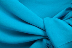 Blue scarf. Beautifull blue scarf isolated on white background Royalty Free Stock Images