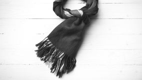 Blue scarf black and white color Stock Photography