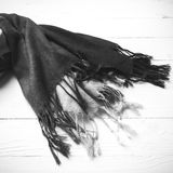 Blue scarf black and white color Royalty Free Stock Photo