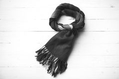 Blue scarf black and white color Stock Images