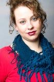 Blue scarf II Stock Image