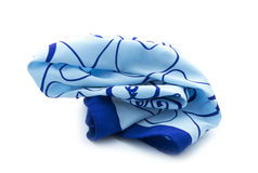 Blue scarf Stock Images