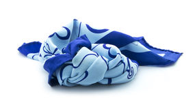 Blue scarf Royalty Free Stock Images