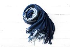 Blue scarf Stock Image