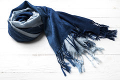 Blue scarf Royalty Free Stock Image
