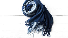 Blue scarf Royalty Free Stock Photography