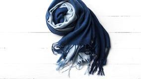 Blue scarf Royalty Free Stock Photos
