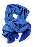 Blue scarf of pashmina isolated Stock Photography