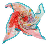 Blue scarf on white background Royalty Free Stock Image