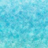 Blue scattered triangles background Stock Image