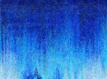 Blue scene. Abstract painting of blue scene royalty free illustration