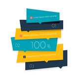 Blue schedule, tab, banner. Stock Photography