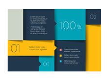 Blue schedule, tab, banner. Minimalistic vector design. Infographic Stock Images