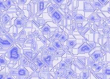 Blue scheme on graph paper Royalty Free Stock Photo