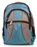 Blue school backpack Royalty Free Stock Photography