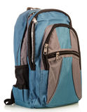 Blue school backpack Stock Photography