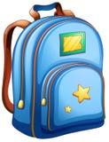 A blue school bag