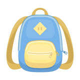Blue school bag. A school bag for a book and notebooks.School And Education single icon in cartoon style vector symbol Stock Image