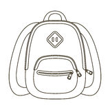 Blue school bag. A school bag for a book and notebooks.School And Education single icon in outline style vector symbol Royalty Free Stock Photography