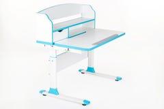 Blue school desk Stock Images
