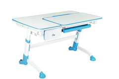 Blue school desk Stock Photo