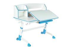 Blue school desk Stock Image