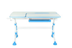 Blue school desk Royalty Free Stock Photography