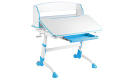 Blue school desk Royalty Free Stock Photography