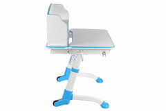 Blue school desk Royalty Free Stock Photos